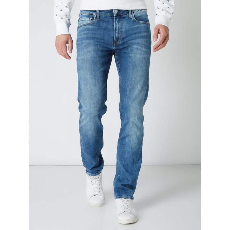 CALVIN KLEIN Stone Washed Slim Fit Jeans