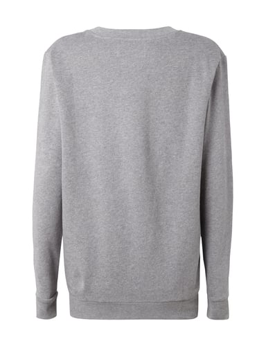 calvin klein jeans sweatshirt mit logo print in grau. Black Bedroom Furniture Sets. Home Design Ideas