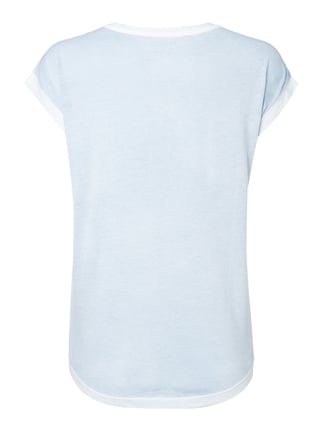 Calvin Klein Jeans T-Shirt im Washed Out Look mit transparentem Logo Hellblau - 1