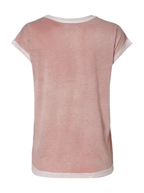Calvin Klein Jeans T-Shirt im Washed Out Look mit transparentem Logo Pink - 1