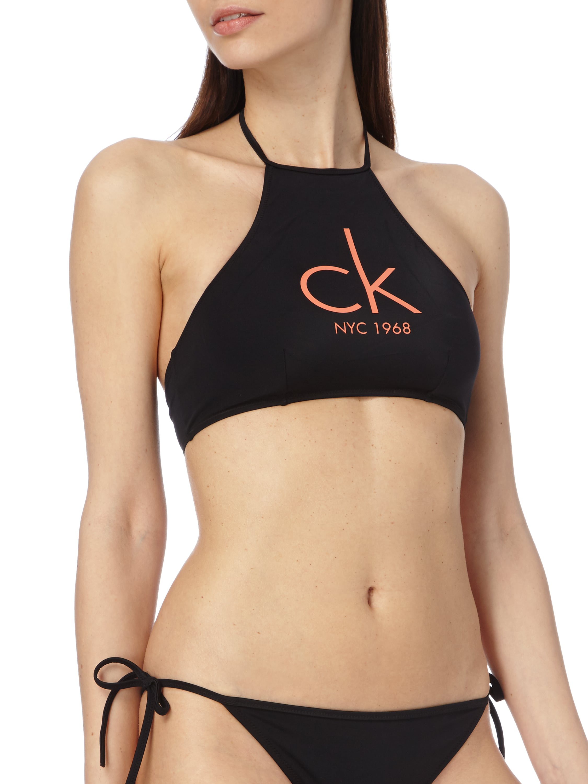 calvin klein underwear bikini oberteil mit neckholder in. Black Bedroom Furniture Sets. Home Design Ideas