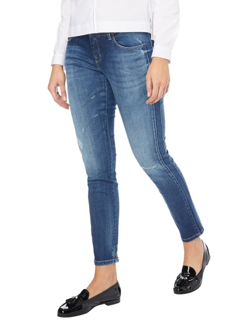 Cambio 5-Pocket-Jeans im Used Look Blau - 1