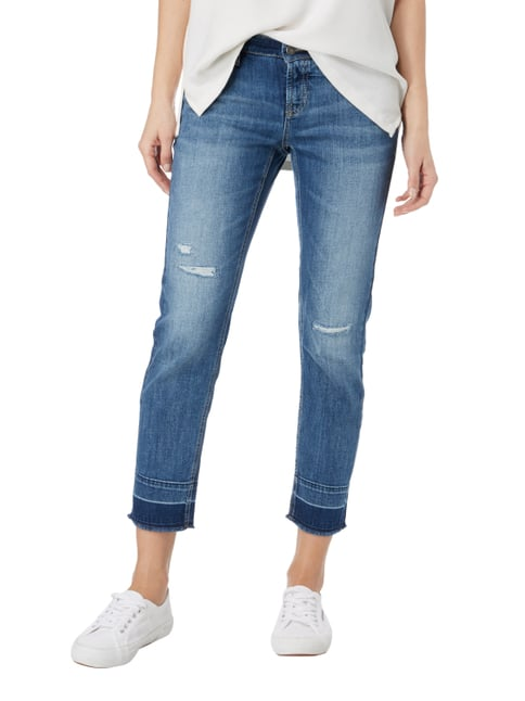 Cambio Ankle Cut Jeans im Destroyed Look Blau - 1