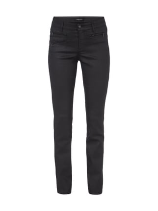 Coated Slim Fit Jeans Grau / Schwarz - 1