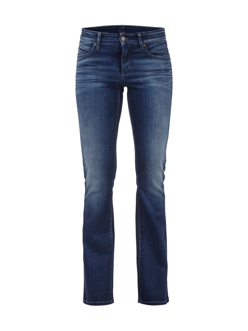 Flared Cut Jeans im Stone Washed-Look Blau / Türkis - 1