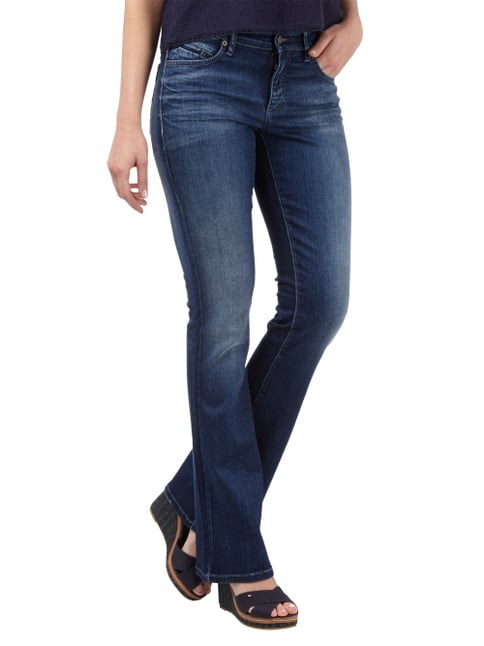Cambio Flared Cut Jeans im Stone Washed-Look Jeans - 1