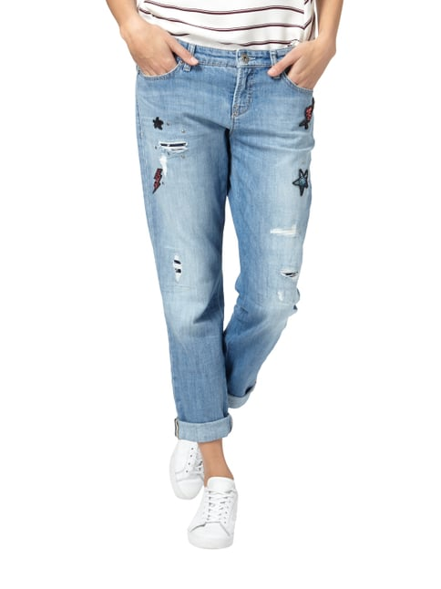 Cambio Jeans mit Pailletten-Patches Jeans - 1