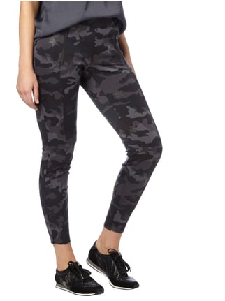 Cambio Leggings mit Camouflage-Muster Graphit - 1