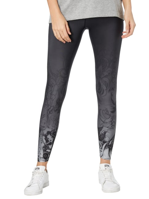 Cambio Leggings mit Tattoomuster Anthrazit - 1