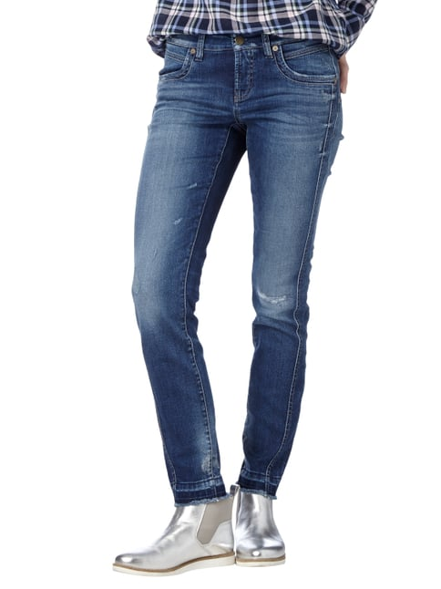Cambio Slim Fit Jeans im Used Look Jeans - 1