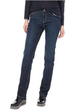 Cambio Stone Washed 5-Pocket-Jeans Türkis - 1