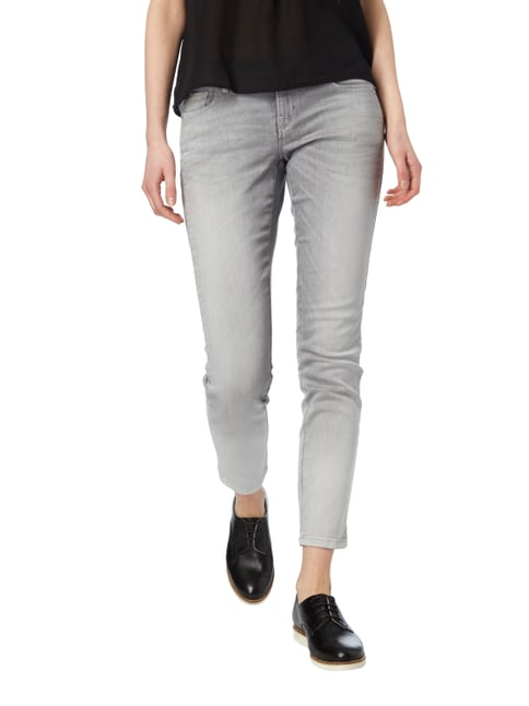 Cambio Stone Washed 5-Pocket-Jeans Mittelgrau - 1