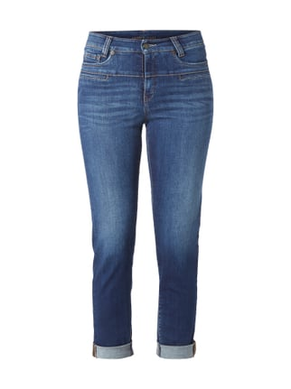 Stone Washed High Waist 5-Pocket-Jeans Blau / Türkis - 1