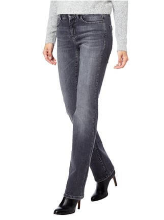 Cambio Stone Washed Regular Fit 5-Pocket-Jeans Mittelgrau - 1