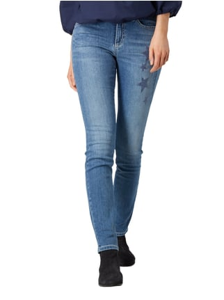 Cambio Stone Washed Skinny Fit 5-Pocket-Jeans Türkis - 1