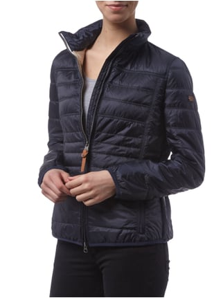 camel active Light-Daunen Steppjacke mit Stehkragen Marineblau - 1