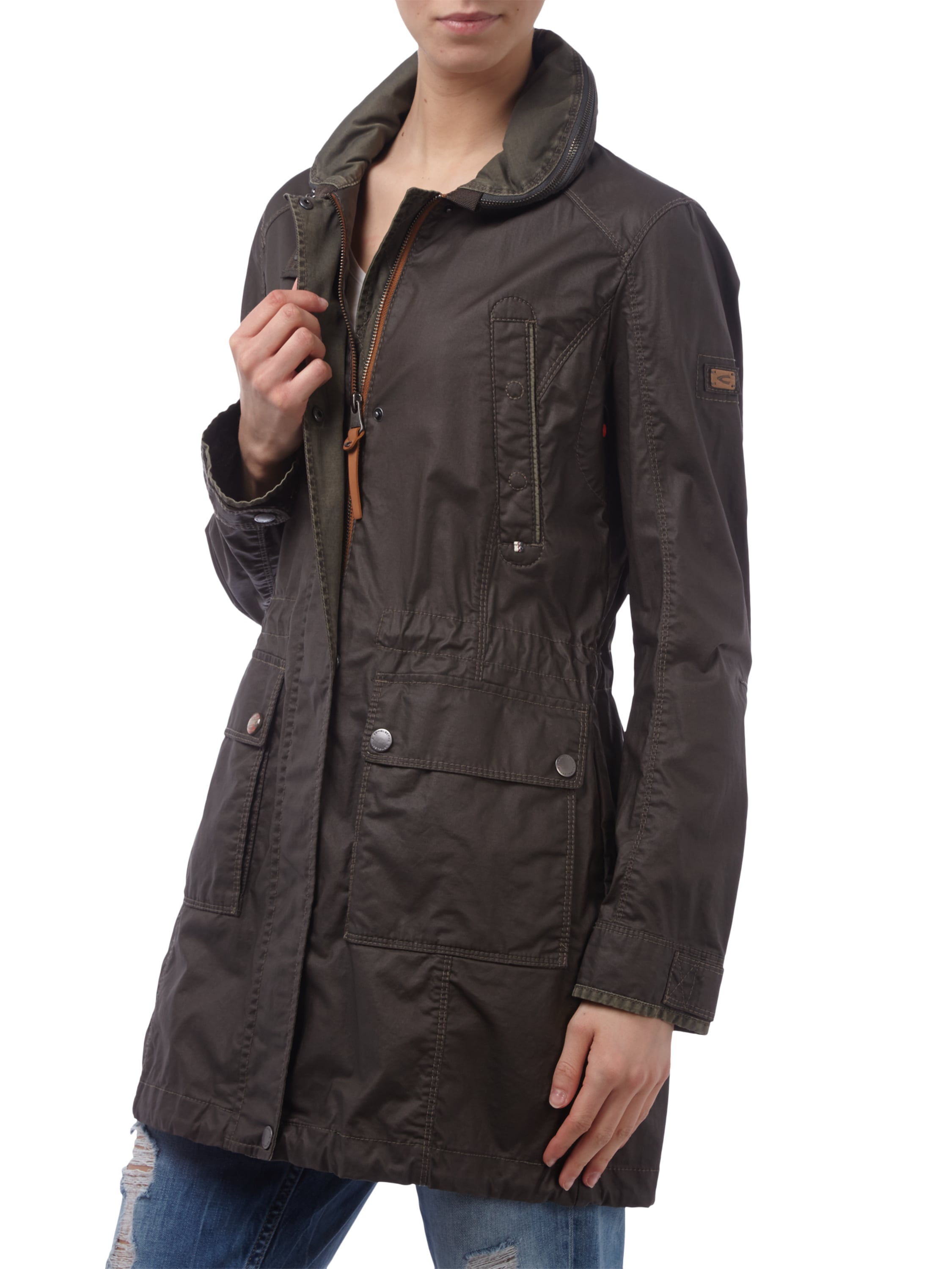 camel active parka mit herausnehmbarer kapuze wasserabweisend in gr n online kaufen 9423253. Black Bedroom Furniture Sets. Home Design Ideas