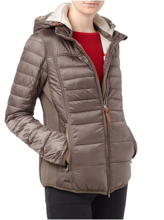 camel active Steppjacke mit abnehmbarer Kapuze - wetterfest Taupe - 1