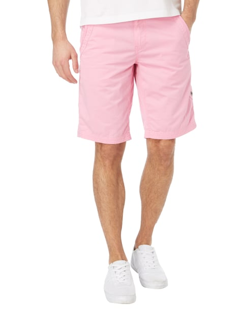 Camp David Chinoshorts im Washed Out Look Pink - 1