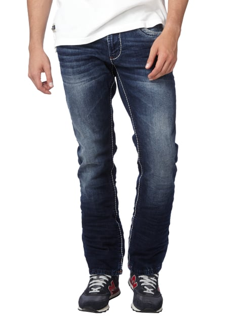 Camp David Double Stone Washed Regular Fit Jeans Blau - 1