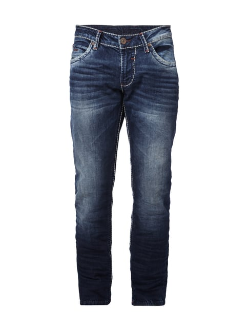 Double Stone Washed Regular Fit Jeans Blau / Türkis - 1