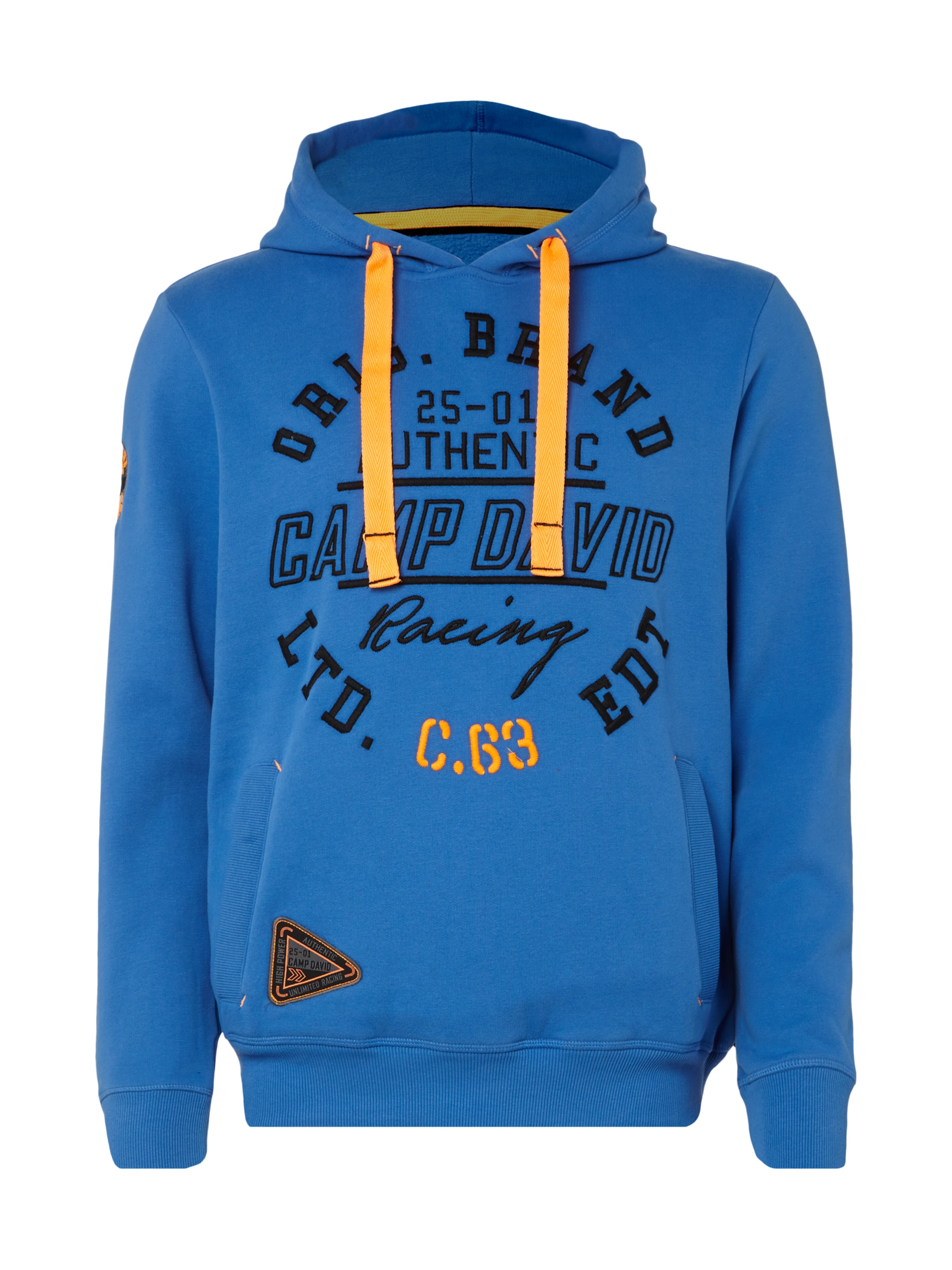camp david hoodie mit gro er logo stickerei in blau t rkis online kaufen 9571749 p c. Black Bedroom Furniture Sets. Home Design Ideas