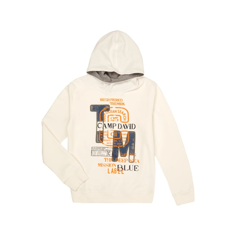 camp david hoodie mit logo aufn hern und prints the fashion victim. Black Bedroom Furniture Sets. Home Design Ideas