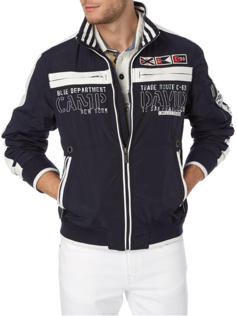 Camp David Jacke mit Logo-Details Marineblau - 1
