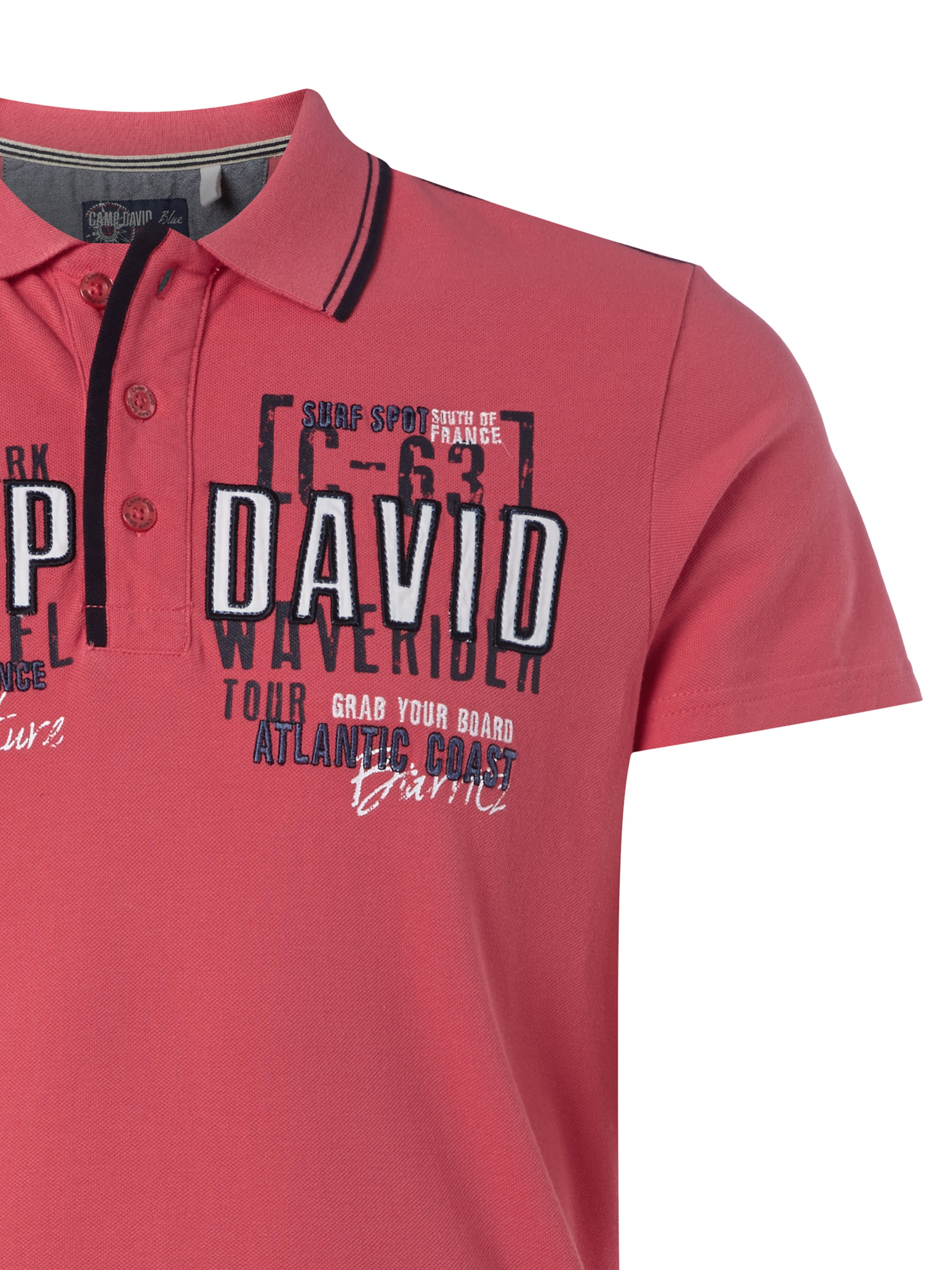 camp david poloshirt mit logo applikationen in rot online kaufen 9428724 p c online shop. Black Bedroom Furniture Sets. Home Design Ideas