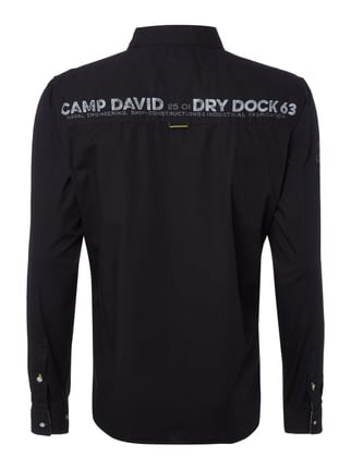 Camp David Regular Fit Freizeithemd mit Logo-Details Schwarz - 1