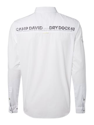 Camp David Regular Fit Freizeithemd mit Logo-Details Weiß - 1