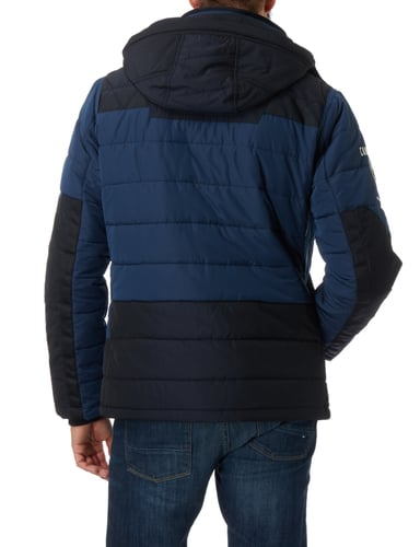camp david steppjacke mit abnehmbarer kapuze in blau. Black Bedroom Furniture Sets. Home Design Ideas