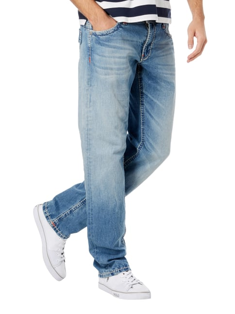 Camp David Stone Washed Regular Fit 5-Pocket-Jeans Bleu - 1