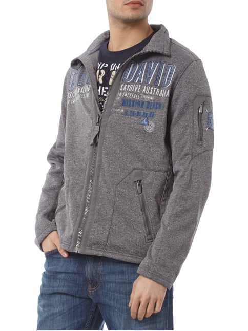 Camp David Sweatjacke mit Logo-Details Graphit meliert - 1