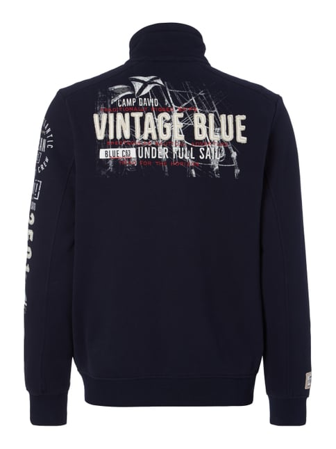Camp David Sweatjacke mit Stickereien Marineblau - 1
