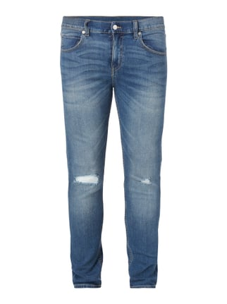 Slim Fit 5-Pocket-Jeans im Destroyed Look Blau / Türkis - 1