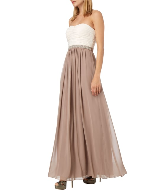 Christian Berg Cocktail Abendkleid aus Chiffon in Lila - 1