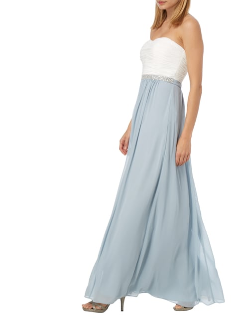 Christian Berg Cocktail Abendkleid aus Chiffon in Blau / Türkis - 1