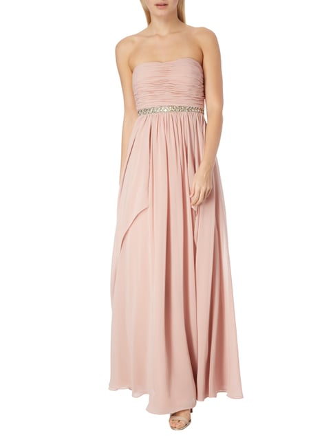 Christian Berg Cocktail Abendkleid aus Chiffon in Rosé - 1