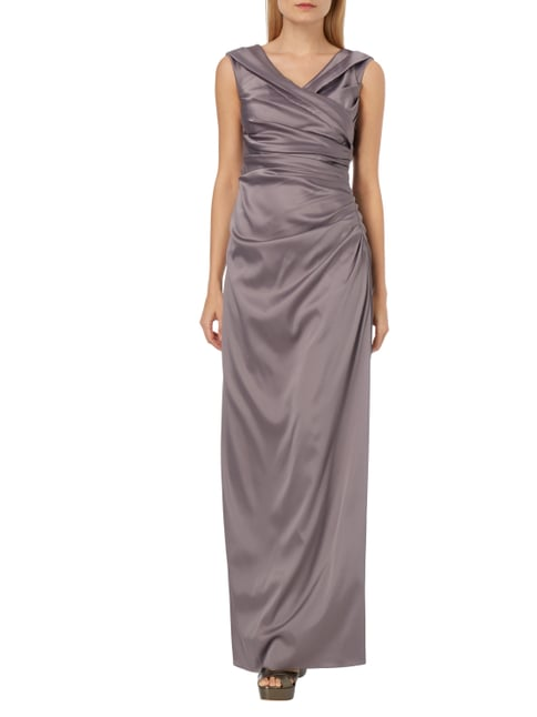 Christian Berg Cocktail Abendkleid aus Satin in Lila - 1