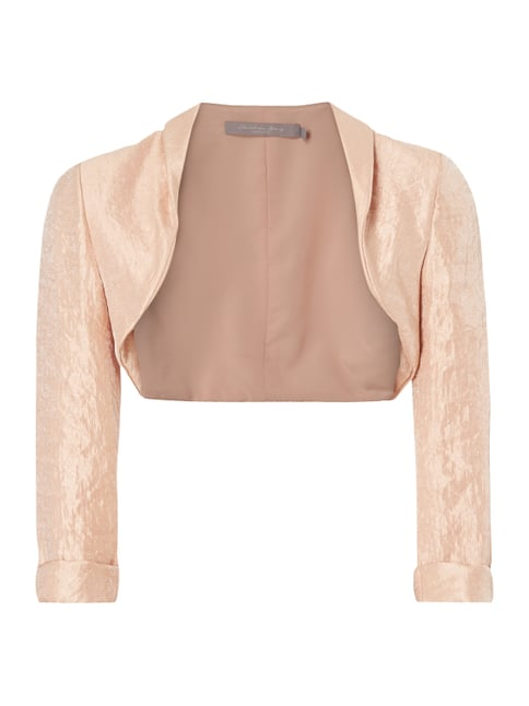 Cocktailjacke aus schimmerndem Material Orange - 1