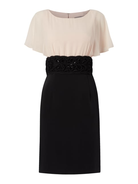 Cocktailkleid in Two-Tone-Machart Grau / Schwarz - 1
