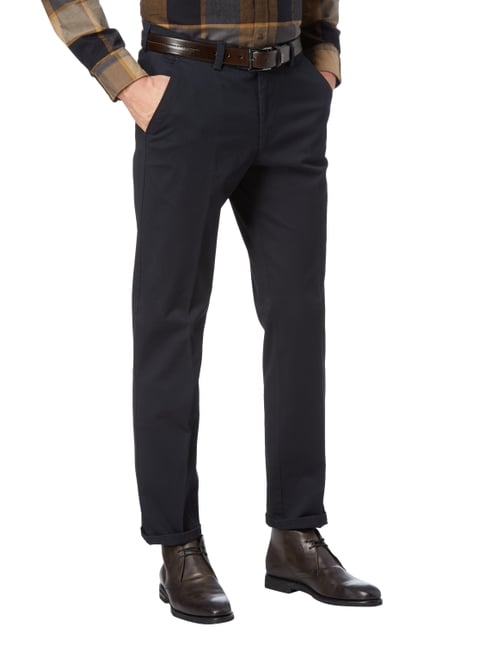 Christian Berg Men Chino mit Stretch-Anteil Marineblau - 1