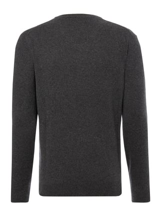 Christian Berg Men Pullover aus Kaschmir-Seide-Mix Anthrazit meliert - 1