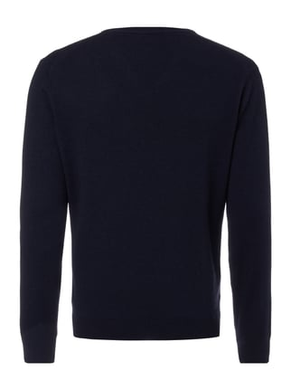 Christian Berg Men Pullover aus Kaschmir-Seide-Mix Marineblau - 1