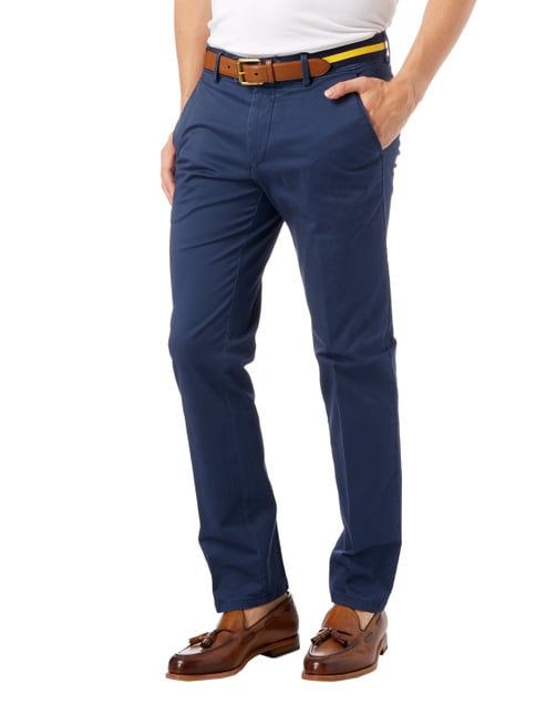Christian Berg Men Regular Fit Chino mit Stretch-Anteil Rauchblau - 1