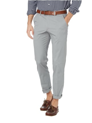 Christian Berg Men Regular Fit Chino mit Stretch-Anteil Silber - 1