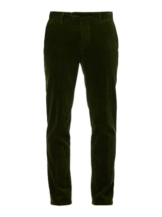 Regular Fit Cordhose mit Stretch-Anteil Grün - 1