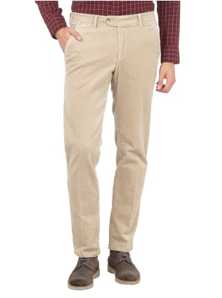 Christian Berg Men Regular Fit Cordhose mit Stretch-Anteil Kitt - 1
