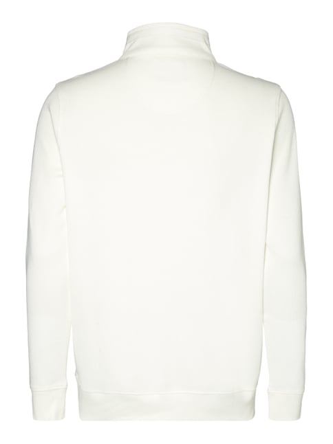 Christian Berg Men Troyer aus leichtem Sweat Offwhite - 1